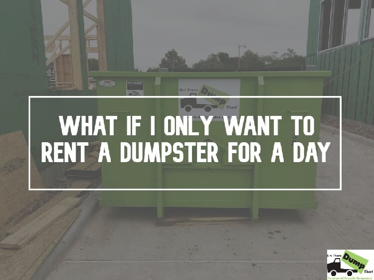 How much to rent a dumpster for one day